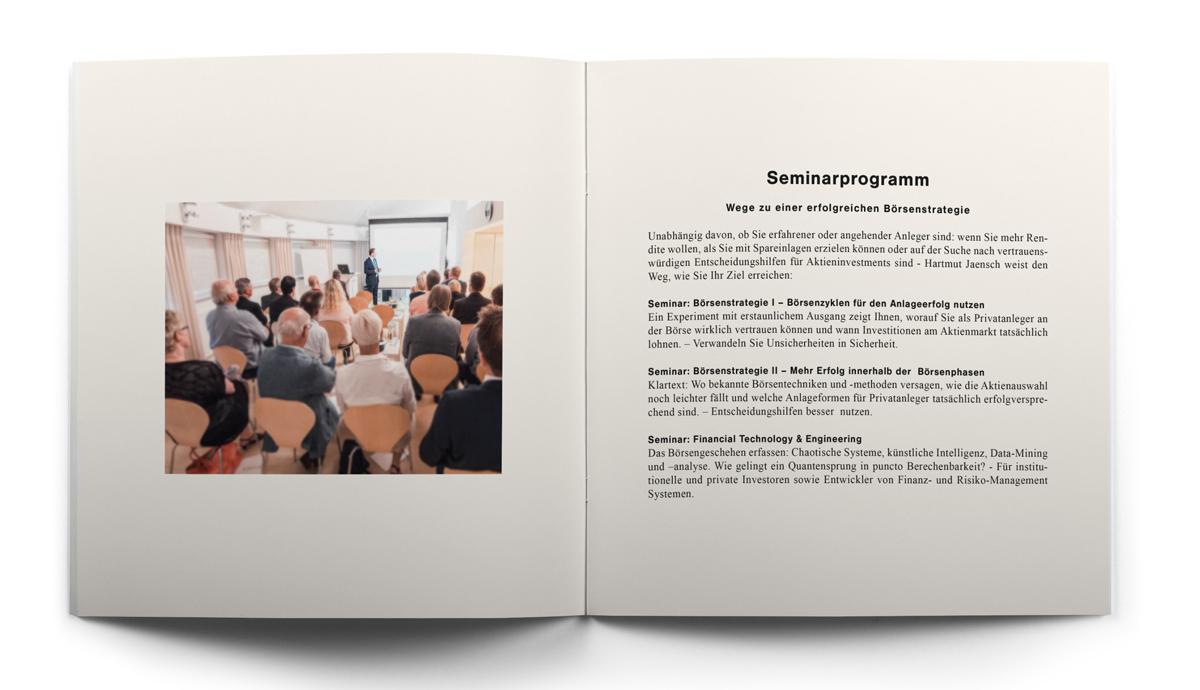 Seiten sechs und sieben der Broschüre von Hartmut Jaensch auf hartmutjaensch.com