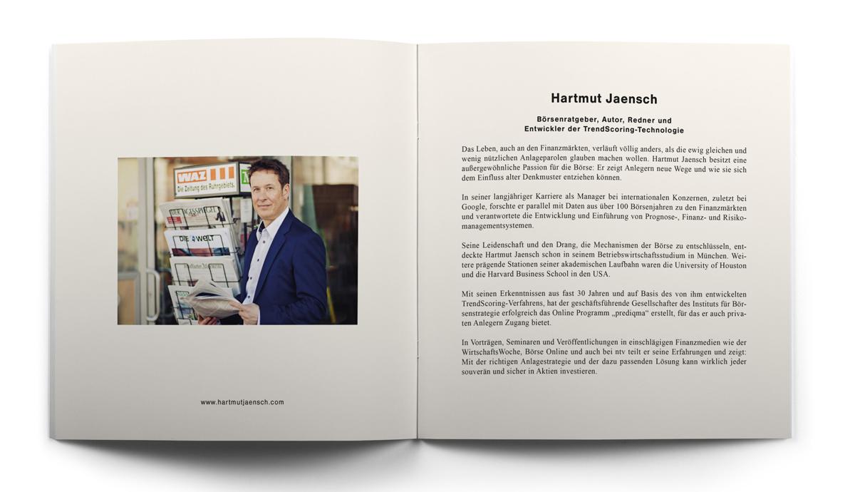 Seiten zwei und drei der Broschüre von Hartmut Jaensch auf hartmutjaensch.com