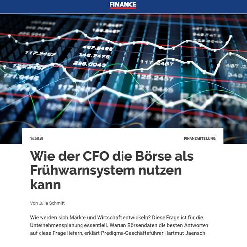 <small><em> 30. August 2018: FINANCE Online</em></small><br/>Wie der CFO die Börse als Frühwarnsystem nutzen kann