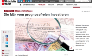 Börse, Investieren, Prognose, prognosenfrei, Anleger, Hartmut Jaensch, WirtschaftsWoche