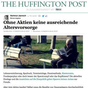 Huffington Post, mit Aktienanlage vorsorgen