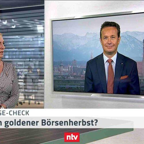 <small><em> 7. September 2020: n-tv Telebörse</em></small><br/>Hartmut Jaensch im n-tv-Geldanlage-Check: Winkt ein goldener Börsenherbst?